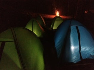 Our tents.